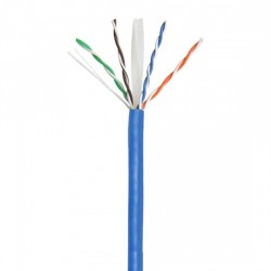 Cat 6A Solid LAN Cable - 305m Drum - Blue
