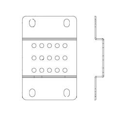 Universal Power Rail Mounting Brackets - 2 pack