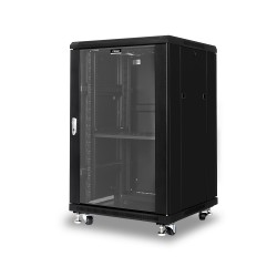 Network Cabinet 18U 600W x 600D Glass/Solid