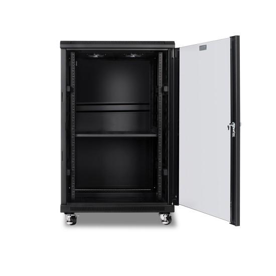 Network Cabinet 18U 600W x 600D Glass/Solid