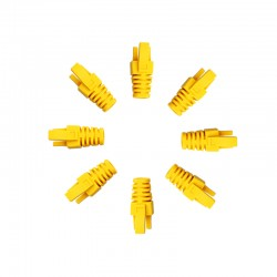 RJ45 Sheath Yellow - 100 Pack