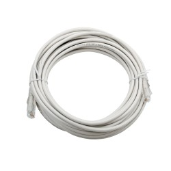 5m Cat6A Unshielded Patch Cable - White
