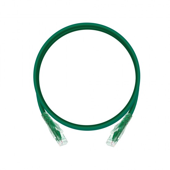 0.25m Cat6 Unshielded Patch Cable - Green