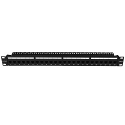 24-Port Patch Panel Cat 6A UTP - Fully Loaded