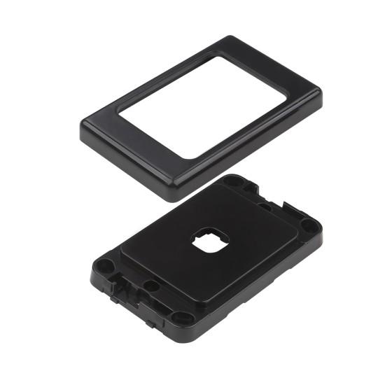 1 Port Australian Style Flush Plate - Black